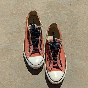 Orange Converse shoes